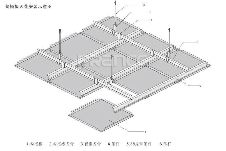 勾搭鋁單板施工安裝圖